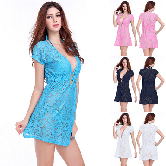 184571000886f Get Quotations · 2015 New White Beach Wear Dress Wholesale Sexy Beach Cover  Up Summer Swim Dresses Fashion Women