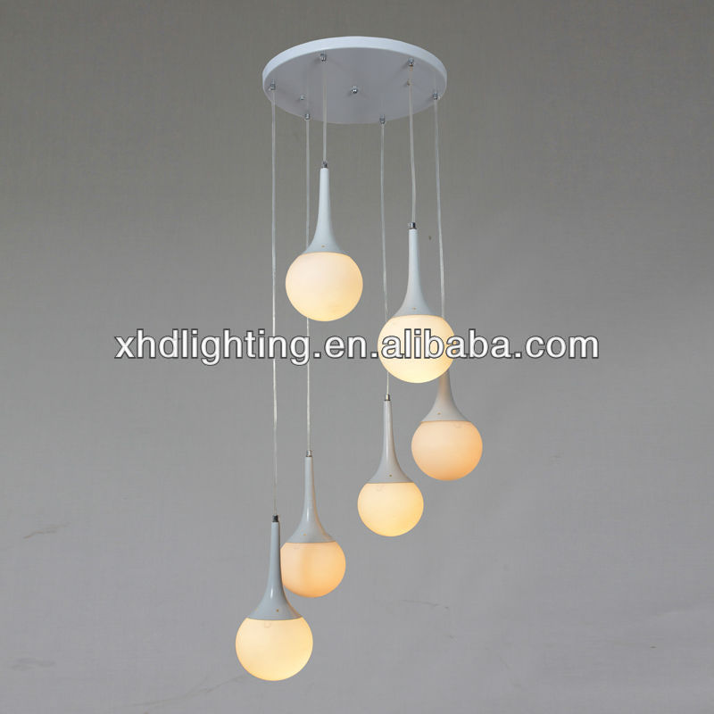 Modern Glass Pendant Lights For Kitchen White Glass Ball Lamps ...