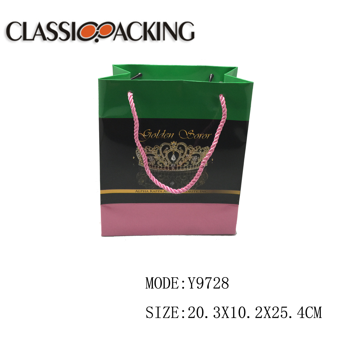 Latest arrival fashion recycled custom printed paper shopping bag