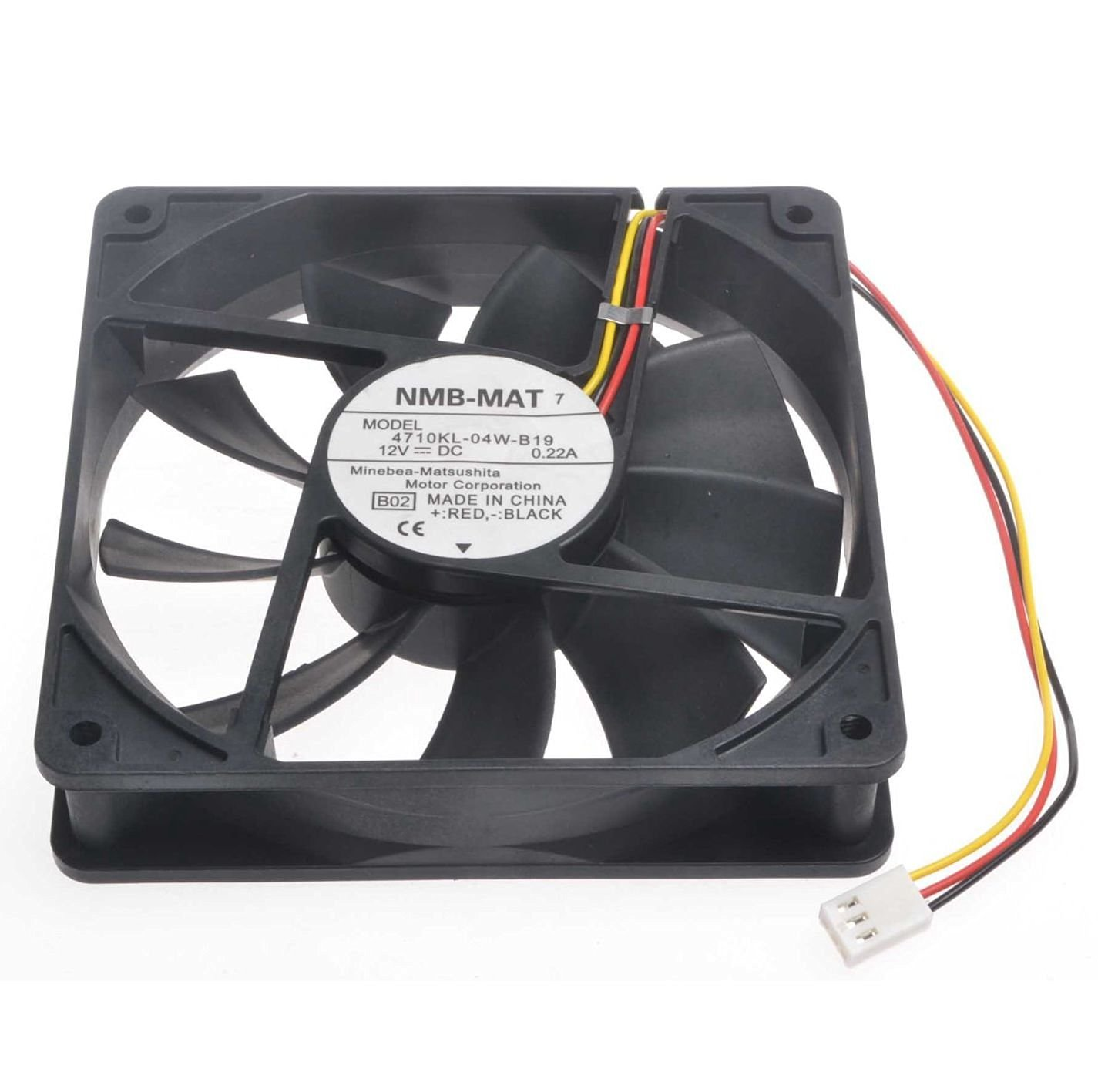 Generic 12cm 4710KL-07W-B56 V02 48V 0.24A 4Wire Inverter Fan