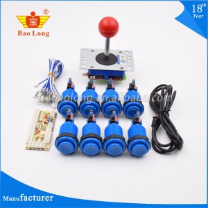 Arcade Game DIY Parts for MAME Cabinet Projects USB Encoder Board + Happ Arcade Joystick + 8 x Arcade Buttons To Video Games