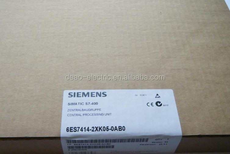 Siemens SIMATIC S7-400 CPU 414-2 CENTRAL PROCESSING UNIT WITH 1 MB WORKING MEMORY CODE DATA INTERFAC 6ES7414-2XK05-0AB0