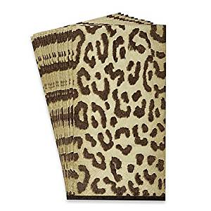 "8.5"" L x 4.5"" H Animal Print 16-Count Zanzibar Paper Guest Towels"