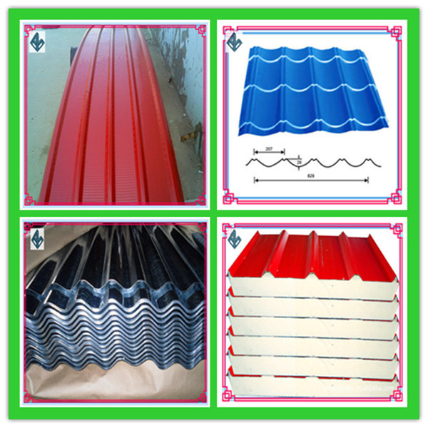 Various colored corrugated corrugated panels for warehouses