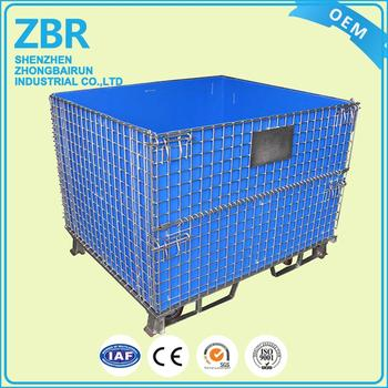 Secure Storage Metal Cage Cargo Wire Mesh Container With Standard