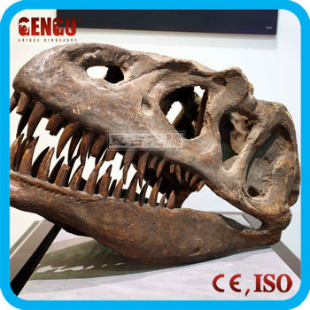 Exhibition model customized t-rex head