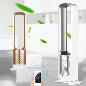 New type of vaneless fan household remote control landing table quiet electric fan shake head anion air purification 32 inches