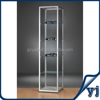 Modern Fashion Door Glass Display Cabinetround Glass Jewelry