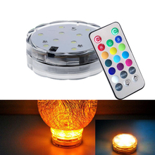 Telecomandato RGB cambiamento di colore AAA battery operated sommergibile HA CONDOTTO LA luce HA CONDOTTO le luci decorative