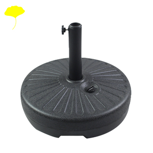 HDPE plastic round parasol stand stable umbrella sand base