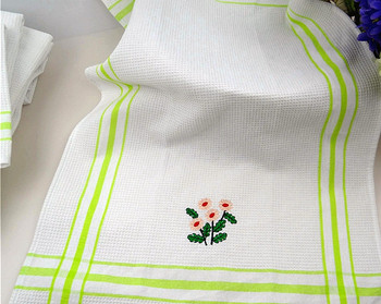 Christmas Embroidery Design Kitchen Towel
