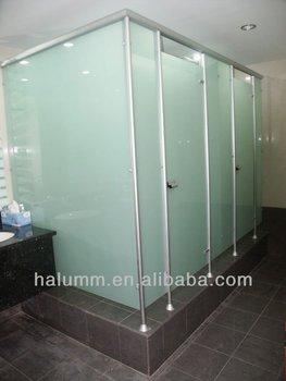 Bathroom Partition Cubicle Single Glass Door Aluminum Frame Accessories Hinged Door Manufacturer