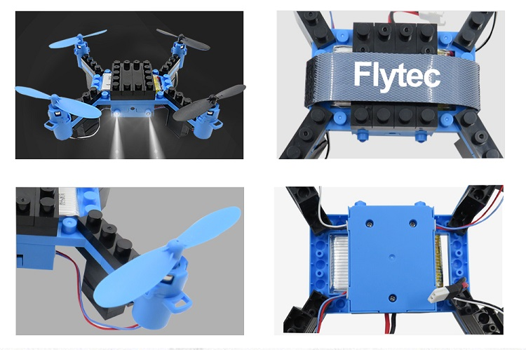 Flytec T11 2.4G 3D Headless Educational Toy DIY Block RC Drone