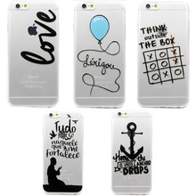 Lovely Funny Words Printing Soft Silicon Back Cover Case Funda Coque For iphone 6 6S plus TPU Capinha