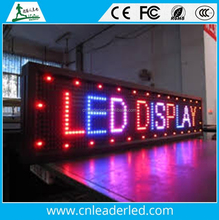 Leader text, symbols, digits Display Function and Blue/Red/ Green /Rgb Color running message text led display board