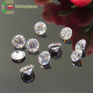 Fashion white cubic zirconia gems excellent star cut zircon stone