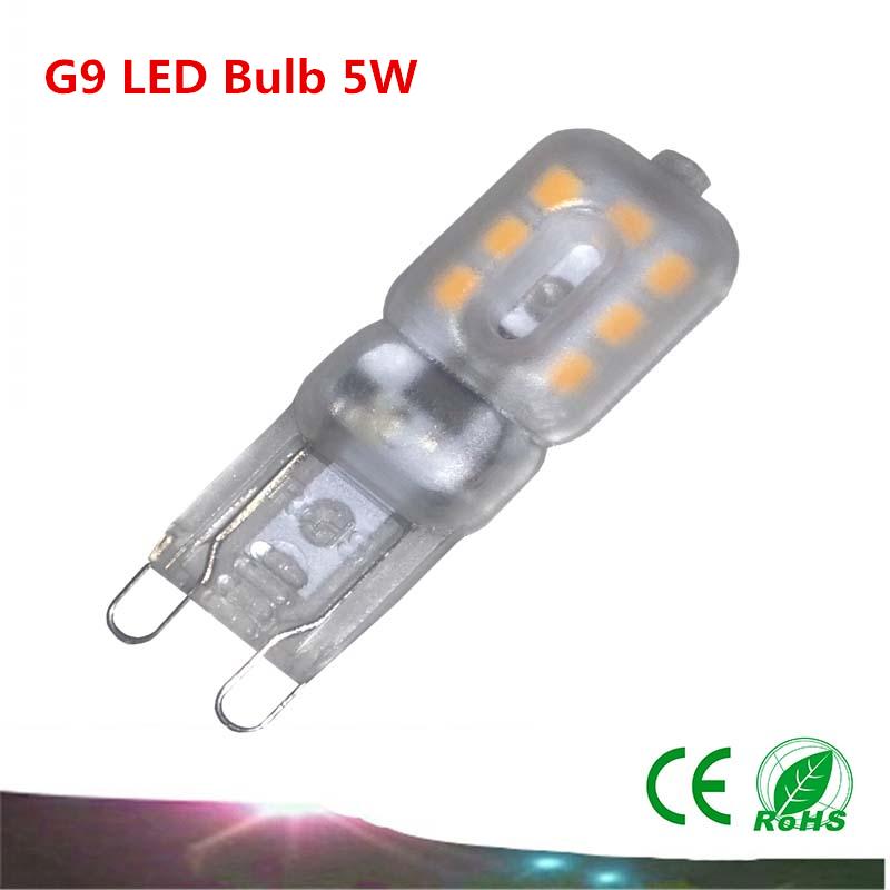 buy 1pcs g9 led bulb 5w smd2835 ac220v mini g9 led lamp corn light chandelier. Black Bedroom Furniture Sets. Home Design Ideas