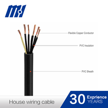 Novel Item single core Solid flexible Copper Wire Conductor PVC filler and insulated house wiring cable 450/750V