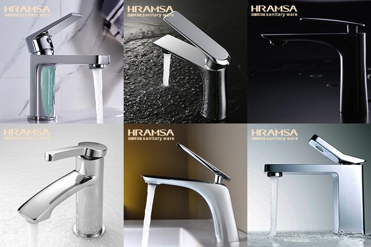 HRAMSA Yüksek Kalite Banyo Pirinç Ayakta Banyo Aksesuarı Tuvalet Fırçası Tutucu