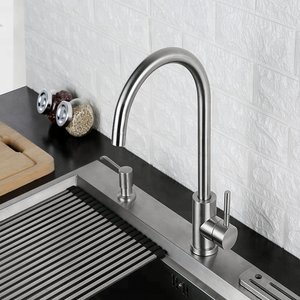 Mounted High Quality Brushed 360 Degree Rotatable Sink Stainless Steel 304 Kitchen Faucet