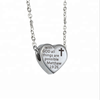 Yiwu Aceon Stainless Steel Information Slider Heart Charm Necklace Pendant