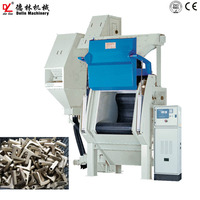 Industrial full automatic sandblasting machine faucet household parts conveyor belt shot blasting machine