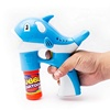LED Light Up Bubble Gun, Dolphin Bubble Gun Set, Blue Dolphin Bubble Gun for Kids - for Birthday Parties, Gift, Party
