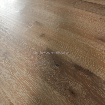 Rustic Brushed Distressed Stained European White Oak Engineered Wood