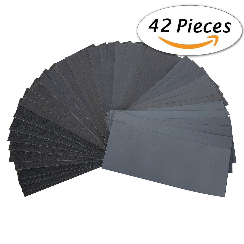 Buy Gochan 42 Pcs Wet Dry Sandpaper 120 To 3000 Grit
