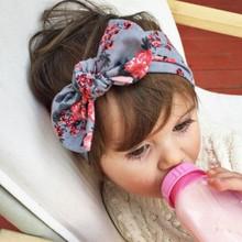 1 peças 2015 recém-nascido bonito do bebê meninas frescas impressão nó elasticidade Headband algodão crianças meninas acessórios de cabelo do bebê T14