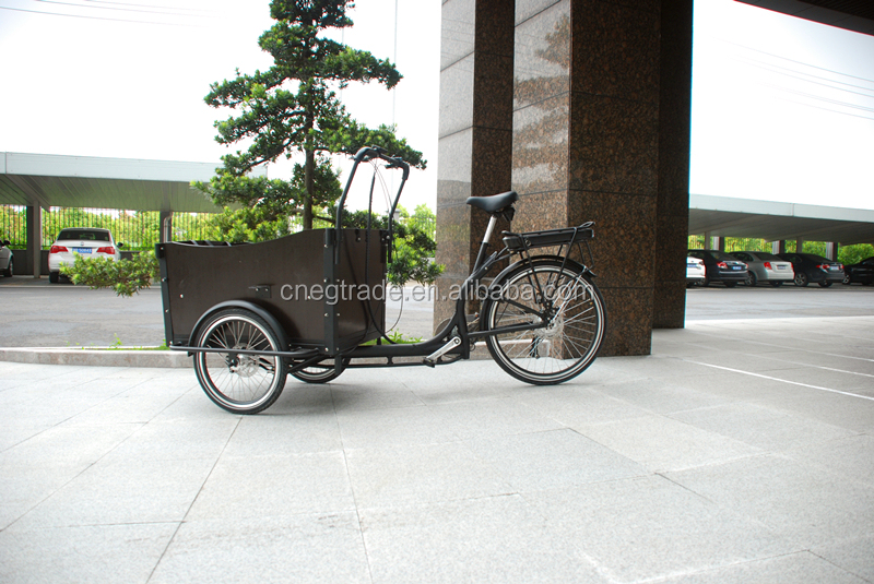 Aluminum frame electric cargo bike/bicycle for family