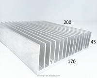 Custom aluminum industrial profiles heat sink 170*45-200 aluminum radiotar fin fan