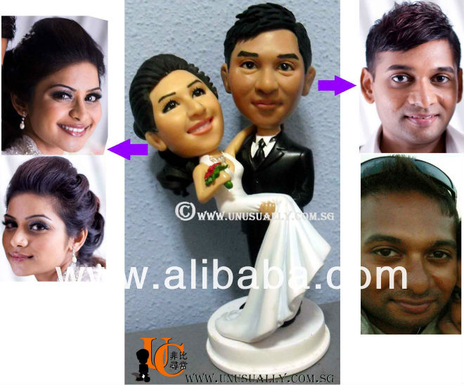 personnalis 3d belle gteau de mariage topper couple figurines - Figurine Mariage Personnalise