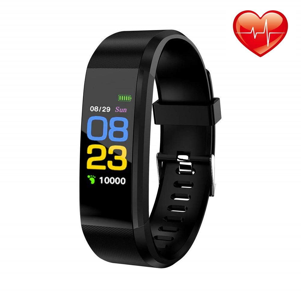 ZLing Fitness Tracker,Smart Motion Tracker Watch with Heart Rate Monitor,Waterproof Smart Bracelet with Sleep Monitor,Step Count,Calorie Counter,Children Women and Men Sports Watch