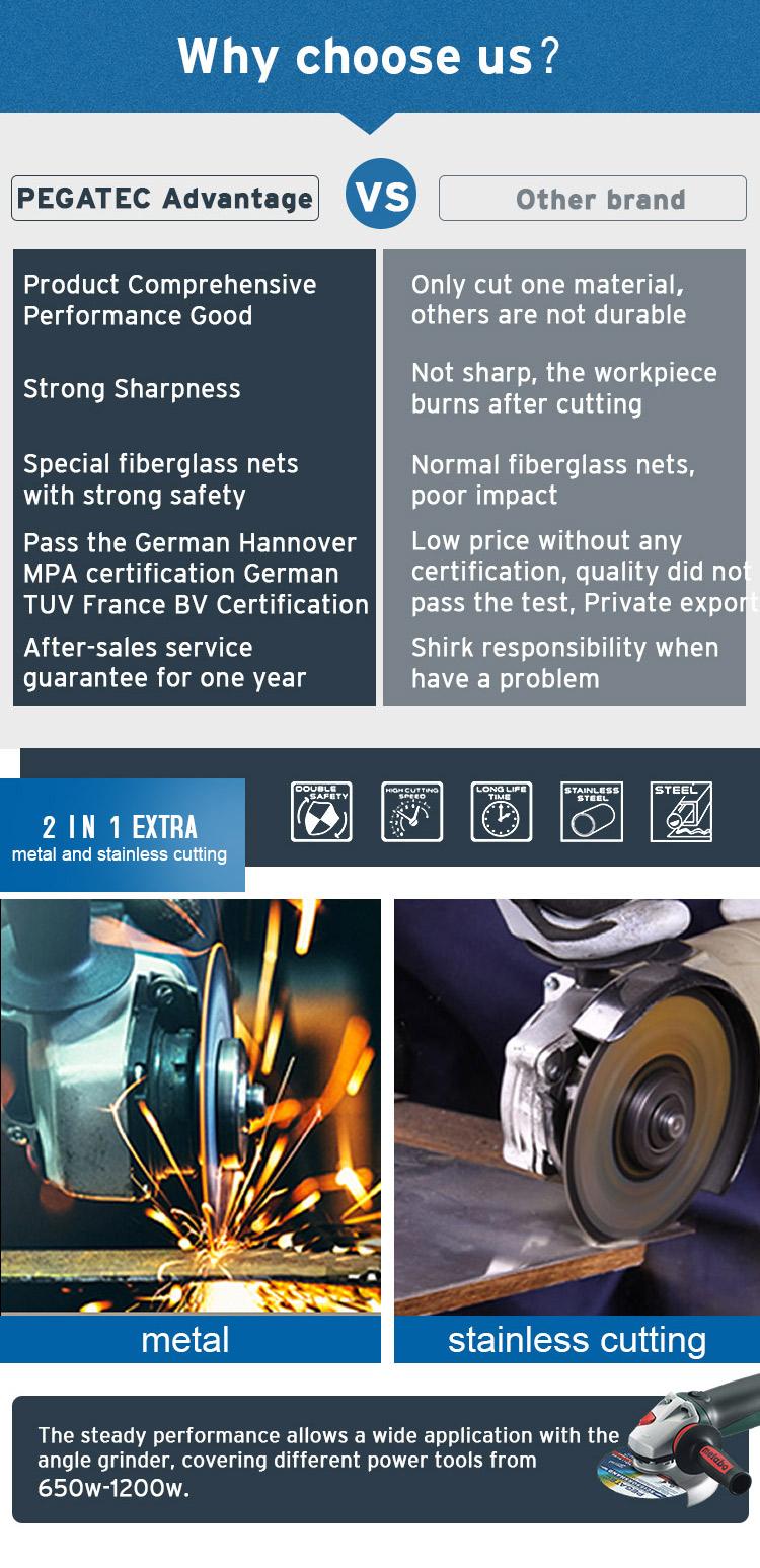 4.5 Inci 115X1X22.2 Mm Logam dan Stainless Steel Cutting Wheel Cutting Disc Harga