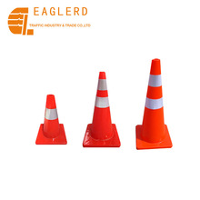 45cm 70cm 90cm Orange red Soft PVC road cone