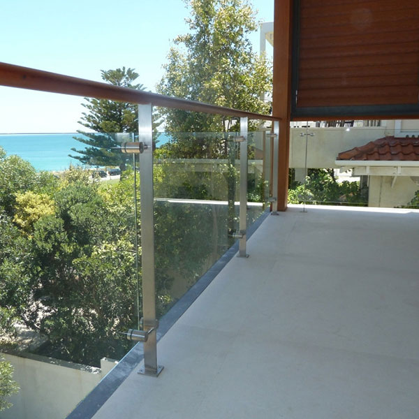 Stainless steel glass guard railing post