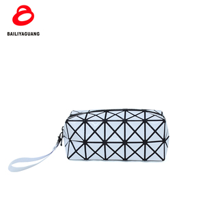 2018 new design glue pvc cosmetic pouch 300pc MOQ white diamond cosmetic pouch diamond makeup bag