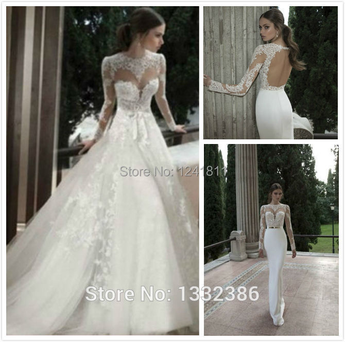 Wedding Dress With Removable Skirt 103