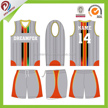 7fb2762c792 Custom Sublimation sample basketball uniform design Cheap wholesale 100%  basketball team uniform jersey for men