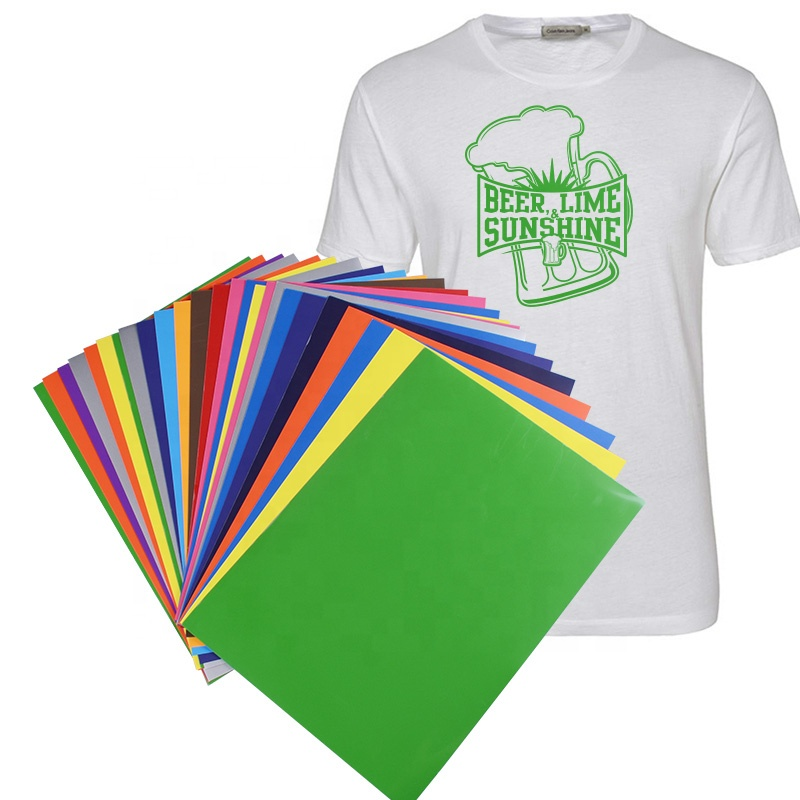"Kenteer pre-cut 10*12""/12"" X 20"" sheets heat transfer vinyl for clothing/jersey"