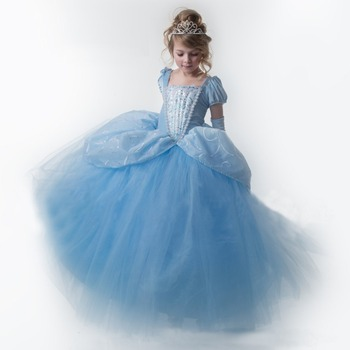 Cinderella Prom Dress Tulle Ball Gown Halloween Party Dresses For ...