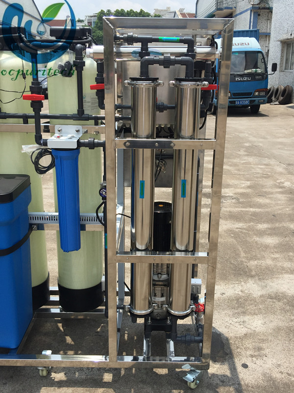 500LPH RO water plant water purifier with FRP tank
