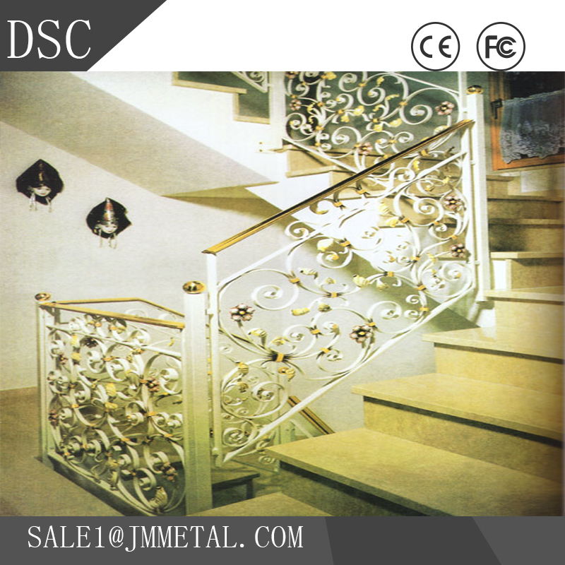 Competitive price arc staircase with wire railings