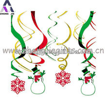 new design christmas foil hanging decoration