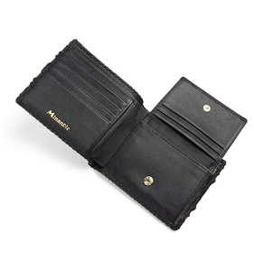 Western style cool snake skin leather wallet genuine leather billfold wallet for men