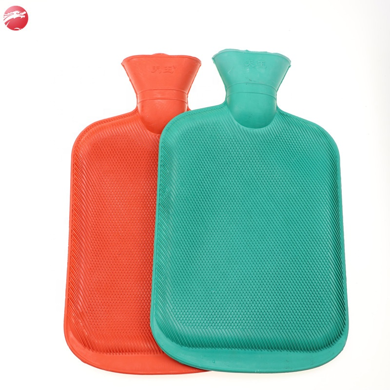 Natural Eco-Friendly 2L Rubber Household Hand Warm Hot Water Bag/Bottle with cover
