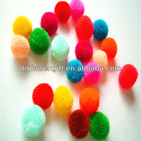 Craft Colored 10mm Yarn Pom poms
