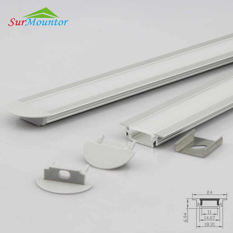 Recessed mounting aluminum extrusion profile from surmountor lighting
