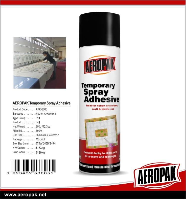 Aeropak Temporary Textile Spray Glue Textile Chemicals Temporary Adhesive